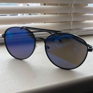 Kara and Kate Sunglasses Blue with Black Frame